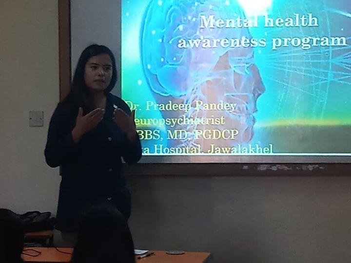 """""""Mental Health awareness program"""" was organized for BSW students"""