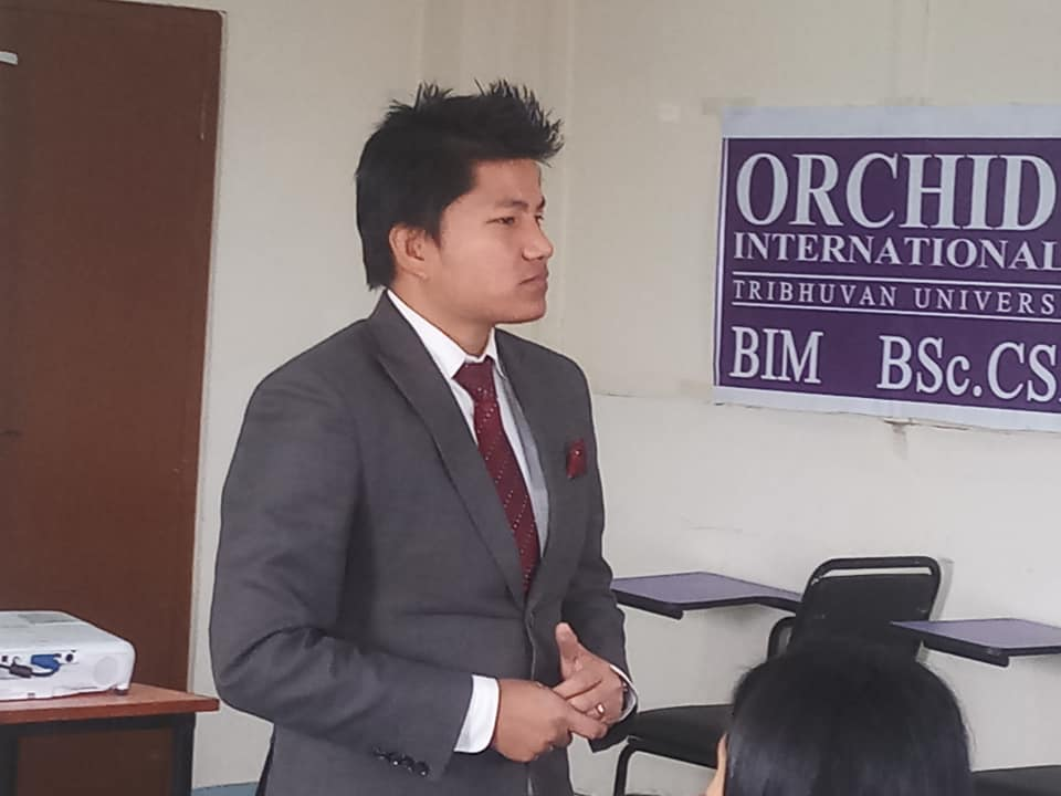 1591894460 829 Mr Bijay Lama HR Officer of NMB bank taking session