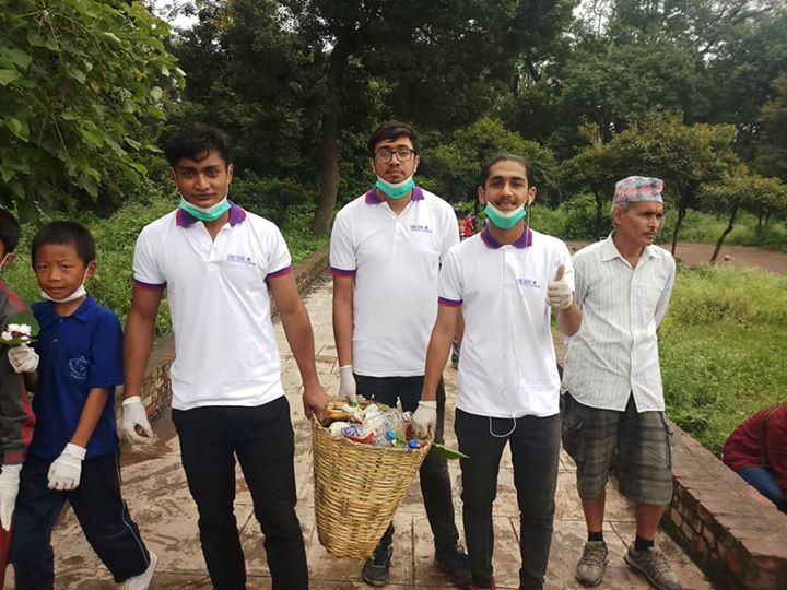 1591897224 406 Students of BSW First year participate in Cleaning and Tree