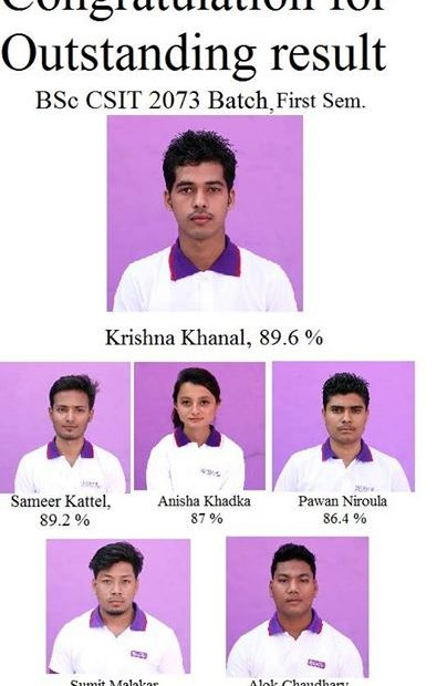 Congratulation To All The Students Of Bsc Csit 2073 Batch