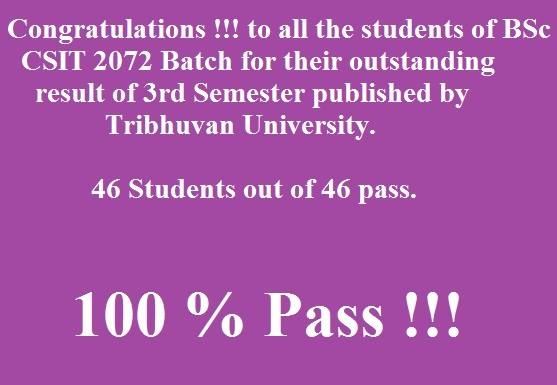Congratulations To All The Students And Thank You A Lot