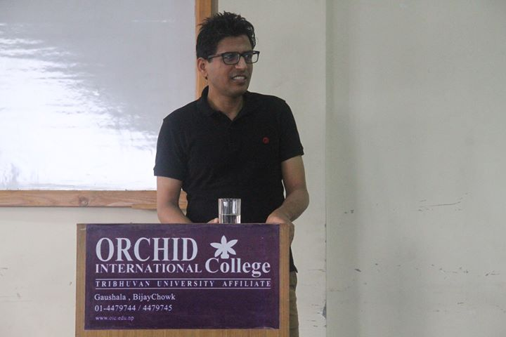 "Guest lecture on ""Entrepreneurship"" by Narottam Aryal Principal …"