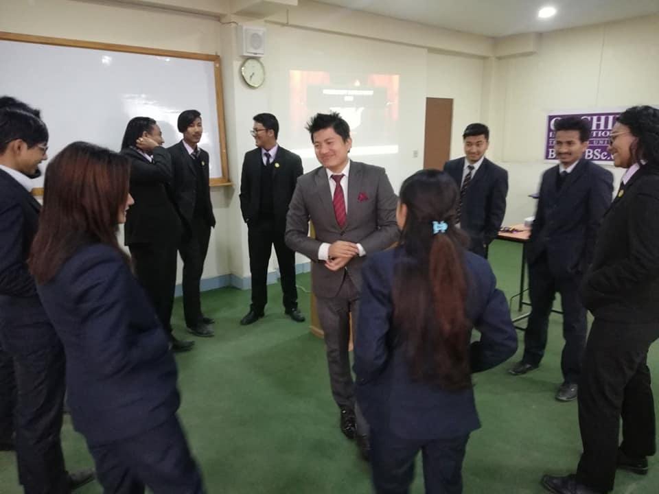 Mr Bijay Lama HR Officer of NMB bank taking session
